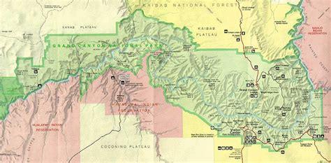 grand map national park grand national park map