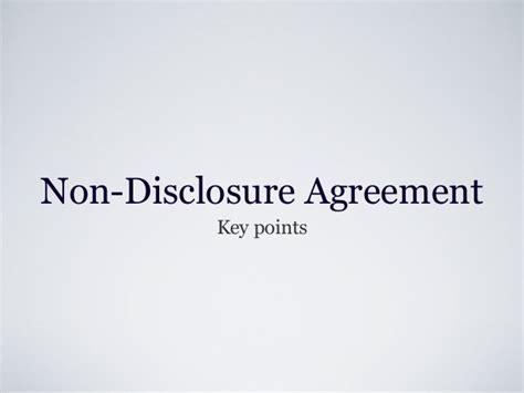 app design non disclosure agreement non disclosure agreement key points