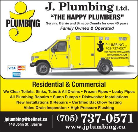 j plumbing ltd barrie on 148 st canpages