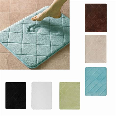 Memory Foam Bathroom Rug Modern Memory Foam Bath Rug 17 Quot X24 Quot Nonslip Contemporary Bathroom Microfiber Mat Ebay