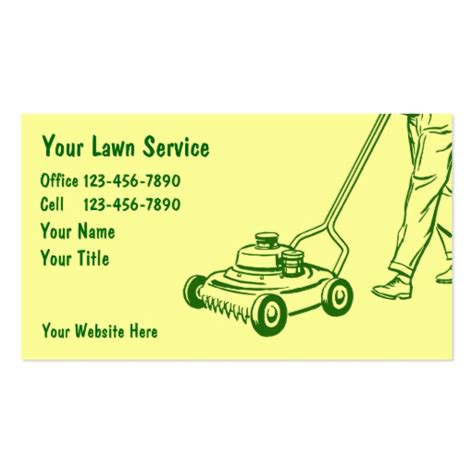 simple lawn care business cards zazzle
