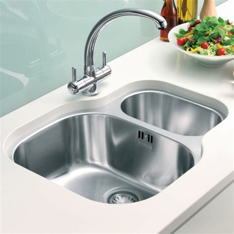 franke stainless steel sinks undermount franke compact cpx 160p stainless steel undermount sink