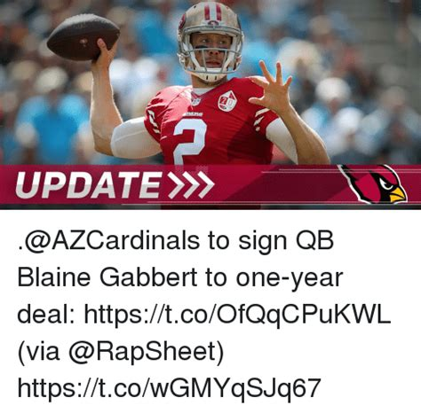 update to sign qb blaine gabbert to one year deal