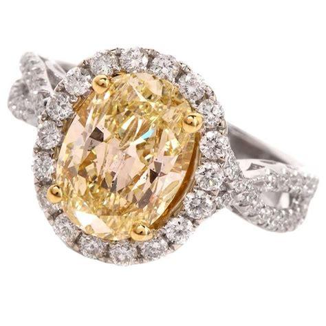 2 93 carat certified fancy light yellow