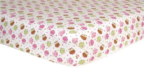 Flannel Baby Crib Sheets Trend Lab Crib Sheet Owl Print Flannel Baby Baby Bedding Crib Sheets