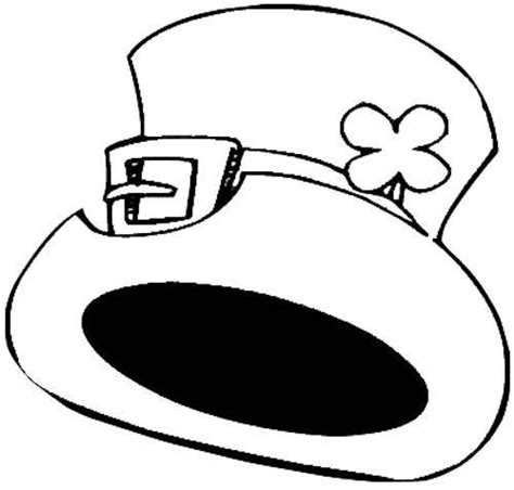 leprechaun hat coloring page leprechauns hat cliparts co