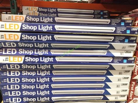 led garage lights costco feit electric led shop light pull chain linkable 3700