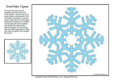 printable winter jigsaw puzzles snowflake jigsaw puzzle printable gift ideas pinterest
