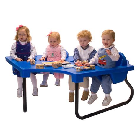 4 Seat Junior Toddler Tables Lowest Price Factory Direct Infant Feeding Table