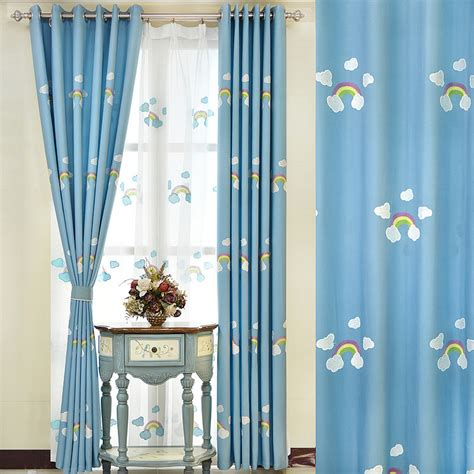 myru blue castle shade cloth curtain childrens bedroom online buy wholesale rainbow curtains from china rainbow