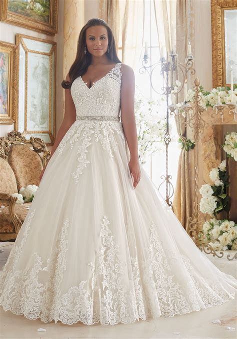 lace  tulle ball gown  size wedding dress style  morilee