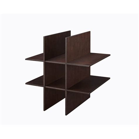 shop allen roth java wood shoe storage at lowes