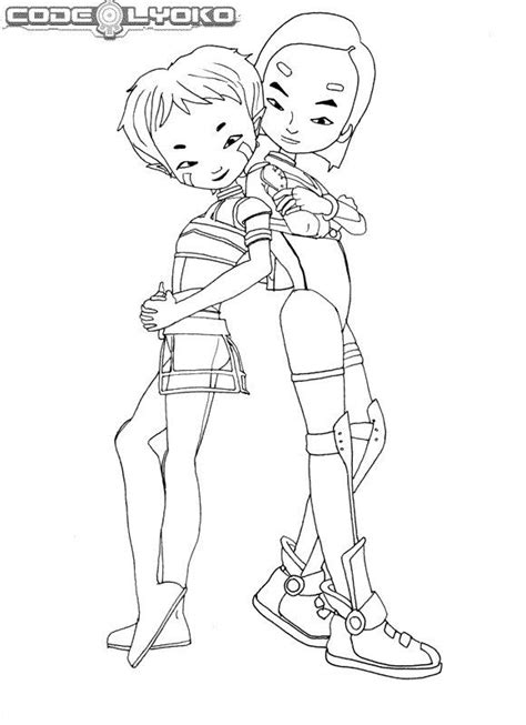 kids n fun com 16 coloring pages of code lyoko