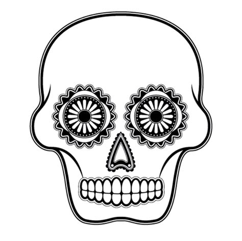 blank sugar skull template simple sugar skull outline wesharepics