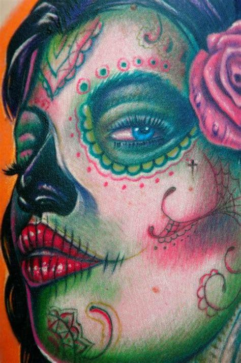 tattoo girl skull painting arts 20 nice looking sugar skull girl tattoo