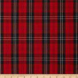 Polyester uniform plaid red black white discount designer fabric