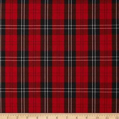 what is plaid polyester uniform plaid red black white discount