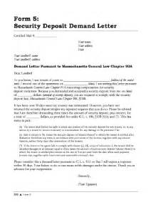 Dispute Letter For Security Deposit Security Deposit Demand Letter Template Letter Template 2017