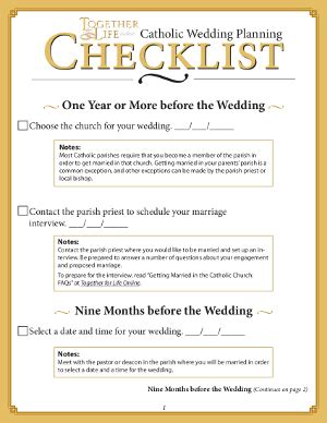 free printable wedding planner book online together for life catholic wedding checklist accessoires