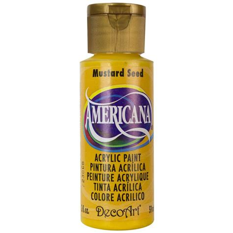 mustard seed 4 oz crafting cooking home decor decoart americana 2 oz mustard seed acrylic paint da264 3