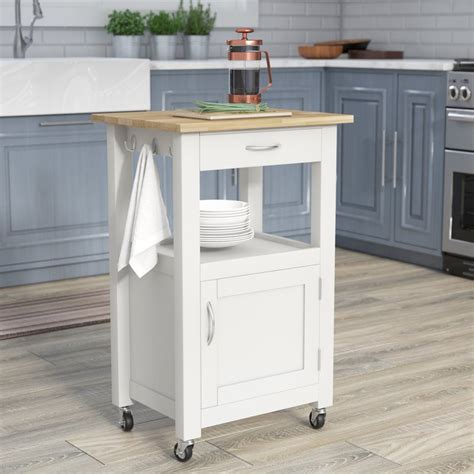 natural wood kitchen island charlton home jordan kitchen island cart with natural wood top reviews wayfair