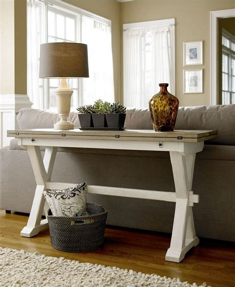 console tables behind sofa versatile console table with a fold out leaf use as a