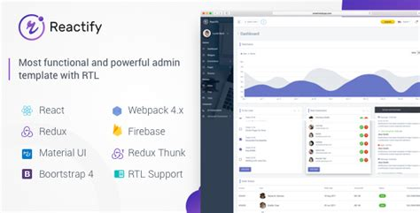 Reactify Reactjs Redux Material Bootstrap 4 Admin Template Download Reactify Reactjs Redux Reactjs Bootstrap Template