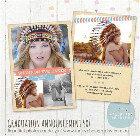 photoshop template graduation announcement senior graduation card announcement card template