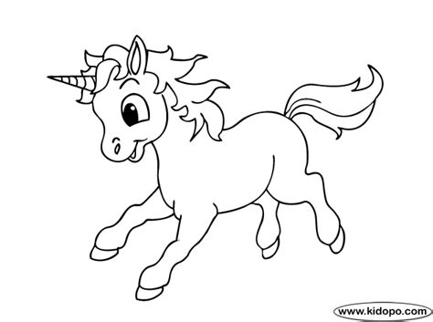 cute unicorn 2 coloring page