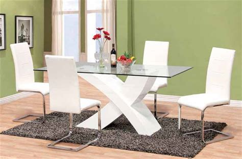 Glass Top Dining Room Table Sets Dining Room Tables Modern Sets Glass
