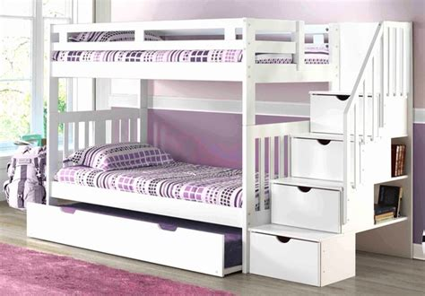 White Bunk Bed With Staircase Staircase Bunk Bed White Mattress Superstore