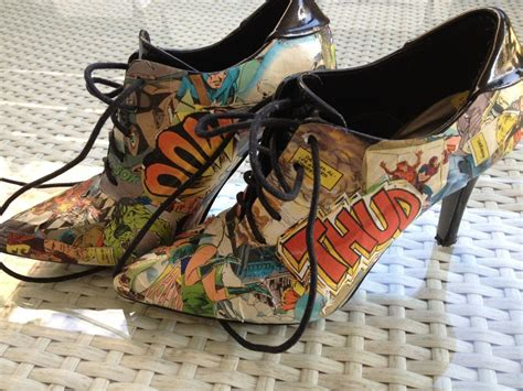 comic book sneakers comic book shoes by littleelk on deviantart