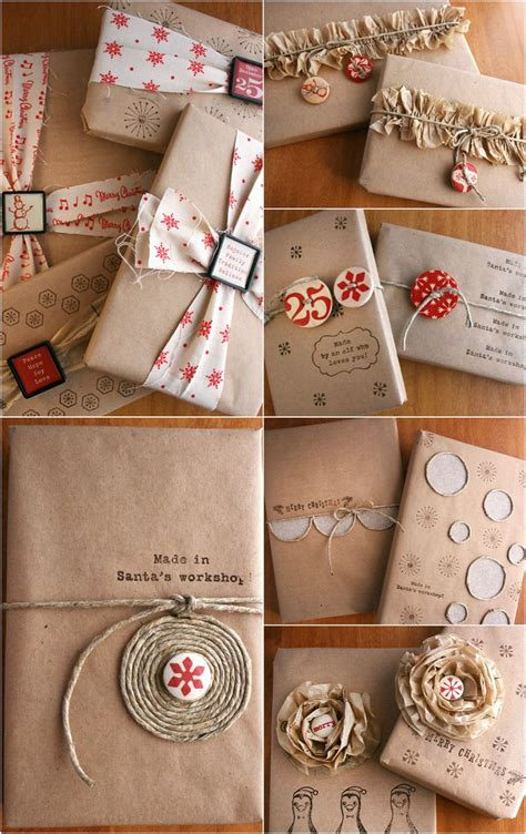Craft Paper Wrapping Ideas - inspiration 8 techniques for gift wrapping with