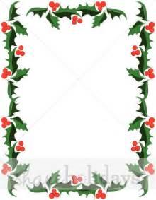 Classic holly christmas border holly clipart
