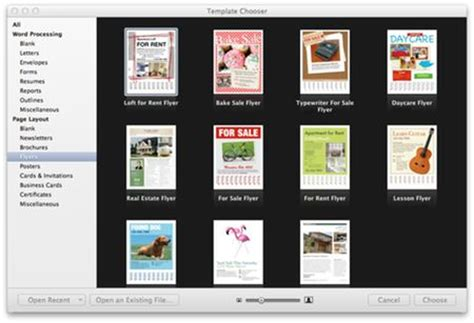 book layout pages mac make a flyer in pages on the mac mactips top tips and