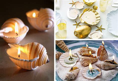 idee candele fai da te decorare con le conchiglie 27 idee originali per la casa
