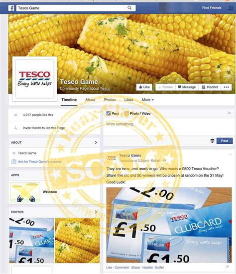 Tesco Voucher Giveaway - tesco game 163 500 voucher giveaway facebook scam
