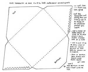 How To Make Your Own Template by Yucca Flats N M Your Own Note Card Sized Envelopes
