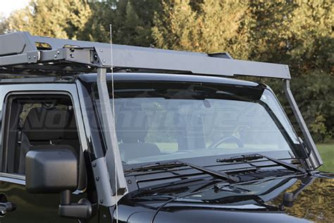 Sliding Roof Rack by Jeep Jk 4dr Lod Sliding Roof Rack Air Deflector Bare Steel Jeep Unlimited Rubicon 2007 2018