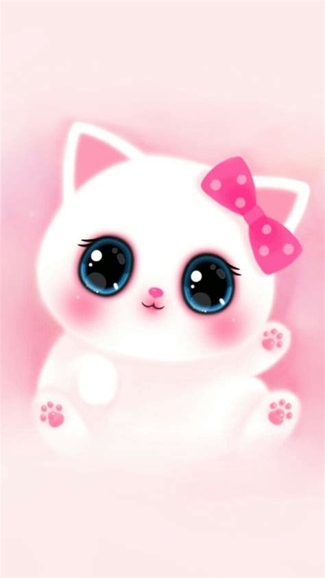 pink cute girly cat melody iphone wallpaper  iphone