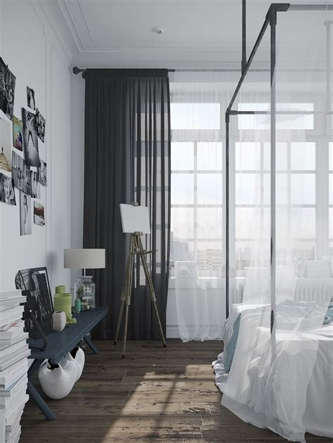 scandinavian curtains stylish scandinavian apartment in murmansk