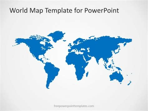 00004 01 World Map 2 Free Powerpoint Templates World Map Powerpoint Template