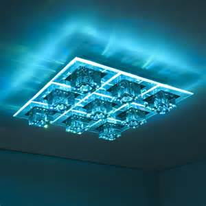 led halogen ceiling flush light colour changing feature