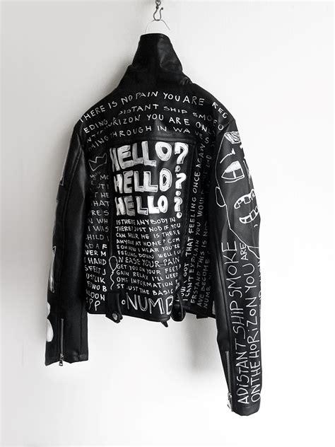 Jaket Parka Black Acliric numb painted black jacket