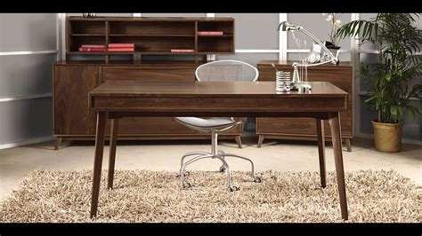 mid century modern office desk mid century modern office furniture youtube