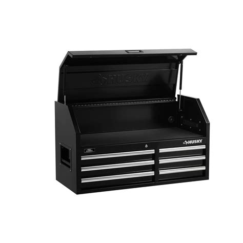 husky 6 drawer tool box husky 41 in 6 drawer chest black h4116chp the home