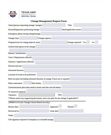 Sle Management Risk Assessment Forms 7 Free Documents In Word Pdf Change Management Risk Assessment Template