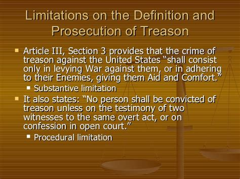 aid and comfort to the enemy ch 3 constitutional limitations on the prohibition of