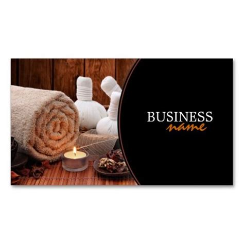 303 best spa business card templates images on pinterest