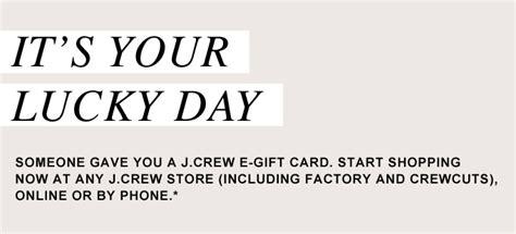 Jcrew Gift Card - jcrew e gift card email